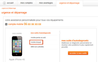 trouver code puk orange