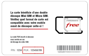 Trouver le code PUK : Orange / Free / SFR / Bouygues